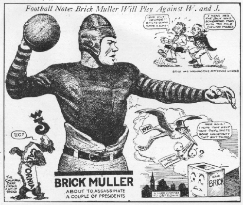 Football Note: Brick Muller Will Play Against W. and J.