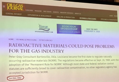 June 25, 1990  - RADIOACTIVE MATERIALS COULD POSE PROBLEMS FOR THE GAS INDUSTRY