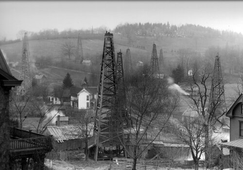 "Oil wells covered the city of Washington, Pa in 1882. How many were properly plugged? Fracking typically uses 9,000 to 15,000 pounds per square inch (PSI) of pressure to crack the shale, so ""communication"" with older wells during fracking has occurred."