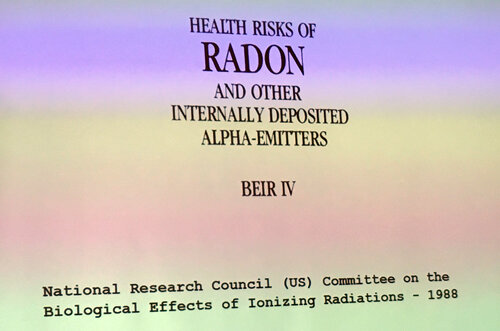 HEALTH RISKS OF  RADON  AND OTHER INTERNALLY DEPOSITED ALPHA-EMITTERS - BEIR IV