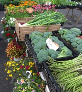 Produce at the Peters Township farmers market in early June.