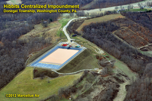 Hibbits Centralized Impoundment in Donegal Township, Washington County, Pennsylvania in 2012