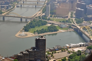 Point State Park in Pittsburgh Pennsylvania.