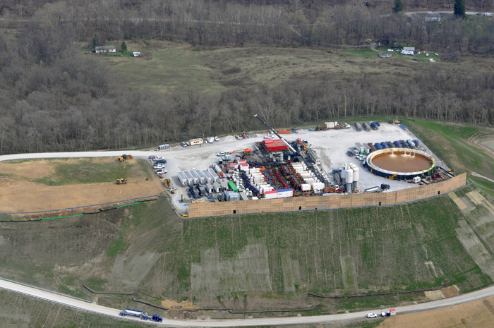 One of the newest 2021 well pads in Washington County Pennsylvania destroyed natural habitat while drastically changing the landscape and many of these oil and gas sites are being developed within one mile of each other, being complemented by natural gas pipelines, compressor stations and gas processing facilities.